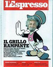 L'Espresso.Beppe Grillo,Hans Magnus Enzensberger,Andrea Pirlo,Mario Balotelli,ii