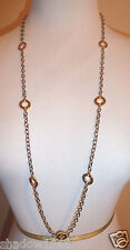 """NWT COACH CIRCLE STATION 36"""" NECKLACE  Silver With Gold 90295"""