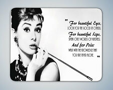 AUDREY HEPBURN BEAUTIFUL EYES QUOTE MOUSE MAT MOUSE PAD COMPUTER PC GAMING GIFT