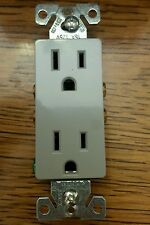 COPPER WIRING 15A 1107GY-BOX TAMPER RESISTANT DECORATOR DUPLEX RECEPTACLE OUTLET