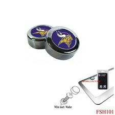Brand New NFL Minnesota Vikings Chrome License Plate Frame Screw Caps