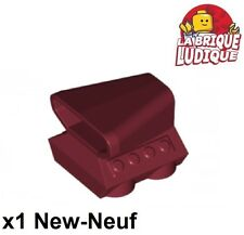 Lego - 1x vehicle voiture prise d'air scoop turbo rouge fon/dark red 50943 NEUF