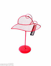 Metal Jewellery Holder Display Rack Stand Red Hat Earrings Storage Room Decor
