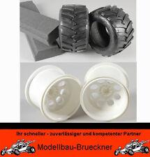 FG Monster-Truck Jeep Felgen weiß + Reifen S mit Reifeneinlage 06232/05 06227/01