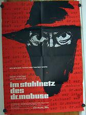 IM STAHLNETZ DES DR. MABUSE (Kinoplakat  '61) - LEX BARKER / GERT FRÖBE
