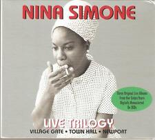 NINA SIMONE LIVE TRILOGY - 3 CD BOX SET - VILLAGE GATE * TOWN HALL * NEWPORT