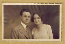 Carte Photo vintage card RPPC couple homme femme Suzanne et Rodolphe 1930 pz0198