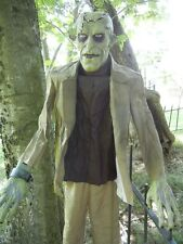 LIFESIZE ANIMATED FRANKENSTEIN MONSTER HALLOWEEN HORROR FIGURE DISPLAY GREETER