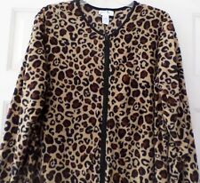 Just Be Leopard Animal Print Footed Footie Pajamas Costume Soft NEW XL LAST ONE