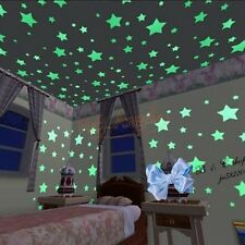 100PCS Wall Stickers Glow in The Dark Luminescent Stars Home Bedroom Decoration