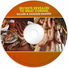 Salami Sausage Making Meat Curing How To Cure Meat Books PDFS on CD