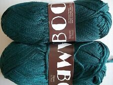 MeiMei Bamboo 100% bamboo yarn, Dark peacock/forest green, lot of 2 (181 yds ea)