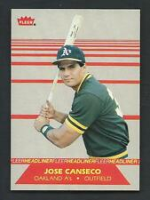 Jose Canseco 1987 Fleer Headliners Card #2; NM-Mint; Oakland Athletics
