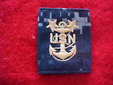 US Navy NWU Blue Digital E-9 for Parka or Liner - Master Chief Petty Officer