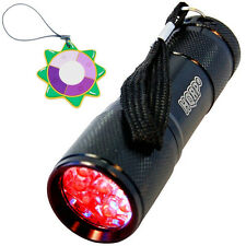 HQRP Red Light LED Black Flashlight Hunting Torch Pressure Switch