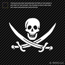 Jolly Roger Calico Jack Rackham Pirate Sticker Die Cut Decal Self Adhesive Vinyl