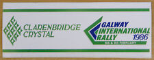 1986 Galway International Rally / Motorsport Sticker Decal