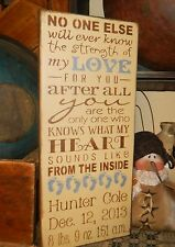 PRIMITIVE SIGN~~STRENGHT OF MY LOVE FOR YOU~~BABY~CUSTOM~~TYPOGRAPHY