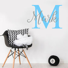 Custom Name Personalise Baby Boy Room Wall Sticker Nursery Decal Decor