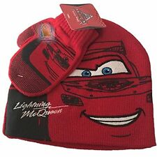 Disney Cars Lightning McQueen Beanie Hat and Gloves Set Mittens