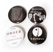 Lot of 4 - New Wave / Goth / 80's - 1.25in Pins Buttons Badges