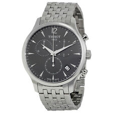 Tissot Tradition Chronograph Charcoal Dial Mens Watch T063.617.11.067.00