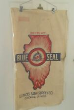 BLUE SEAL ILLINOIS FARM SUPPLY CO. 100 LBS SEED  BAG CHICAGO ILL.