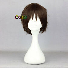 Attack on Titan Eren Jaeger Anime Brown Heat Resistant 30cm Men Cosplay Wig+Cap