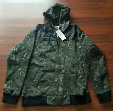 Staple Pigeon Mosaic Jacket, size Large, Olive Green, Hoodie, Sweatshirt