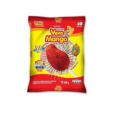 40 PCS Vero Mango Chili Covered Mango Flavored Lollipops Mexican Candy Dulces