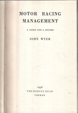 Motor Racing Management by John Wyer 1956 Aston Martin & Lagonda content +