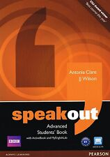 SPEAKOUT Advanced Students Book with ActiveBook & MyEnglishLab Online Access NEW