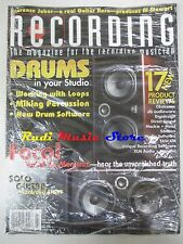 RECORDING Magazine SEALED Lug 2008 Drums In Your Studio Working With Loops No cd