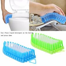 Flexible Soft Brush Glass Washing Cleaning Kitchen Bathroom Toilet Cleaner Tool