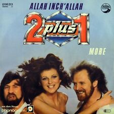 "7"" 2 PLUS 1 Allah Inch Allah DWA PLUS JEDEN ZWEI + EINS AUTOBAHN 1980 like NEW!"