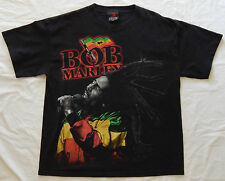 BOB MARLEY Reggae ZION ROOTSWEAR OFFICIAL BLACK T-SHIRT SIZE ADULT L