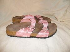 Birkenstock Papillio Womens size 6 Leather Rhinestones pink sandals