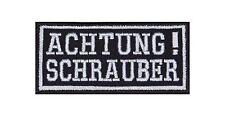 Achtung Schrauber Patch Aufnäher Badge Biker Heavy Rocker Bügelbild Kutte Stick