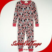 NWT HANNA ANDERSSON ORGANIC LONG JOHNS PAJAMAS MICKEY MOUSE PINK MINNIE 90 3T 3