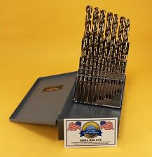 29 Pc Cobalt Drill Bit Set M42 HSS 29pc USA Drills Lifetime Warranty Made in USA