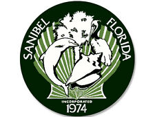 4x4 inch Sanibel Island City Seal Sticker -decal logo state Florida fl usa lee