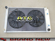 3-ROW ALUMINUM RADIATOR & FANS for 70-81 Chevy Camaro/75-79 Nova/68-73 Chevelle
