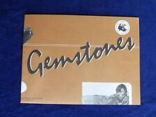 GEMSTONES INFORMATION FLYER POSTER GEOLOGICAL SURVEY CANADA 1987 FRENCH ENGLIS