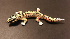 RARE Kaiyodo Furuta Choco Q Pet 1 Yellow Spotted Leopard Gecko Lizard Figure