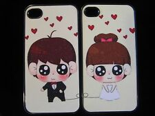 Couple Hard Cover Case for iPhone 4  4s Loving Couple set of 2 his & hers Case