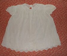 VINTAGE Large Baby doll/Baby white Cotton dress with embroidery & pin tucks