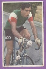 cyclisme vintage  carte photo miroir sprint l'équipe tour de france CARLESI
