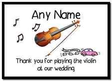Gracias por tocar el violin en nuestra boda personalizado mousemat