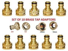 "10pcs Brass 3/4"" To 1/2"" Inch Garden Faucet Water Hose Tap BRASS Connector UK"