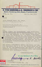 EMMERICH am Rhein, 2 x Brief 1930, Tinten-Fabrik H. von Gimborn A.-G.